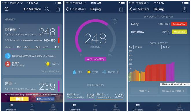 Air Matters là app đo mức độ ô nhiễm không khí có nhiều ưu điểm vượt bậc